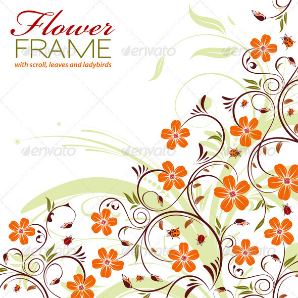 Graphic River Floral Frame Vectors -  Decorative  Borders 1049917