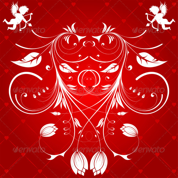 Graphic River Floral Heart Vectors -  Conceptual  Seasons/Holidays  Valentines 1049918