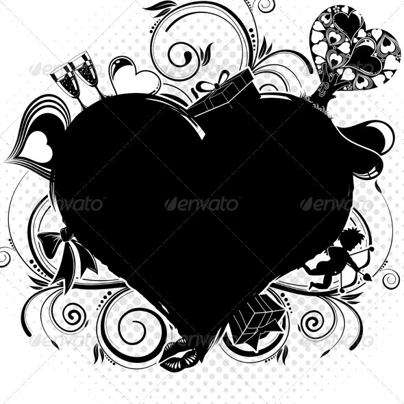 Graphic River Valentines Day background Vectors -  Conceptual  Seasons/Holidays  Valentines 1049924