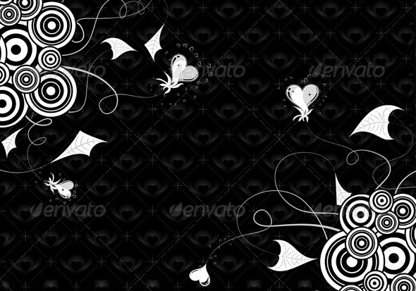 Graphic River Valentines Day background with hearts and florals Vectors -  Conceptual  Seasons/Holidays  Valentines 1049934
