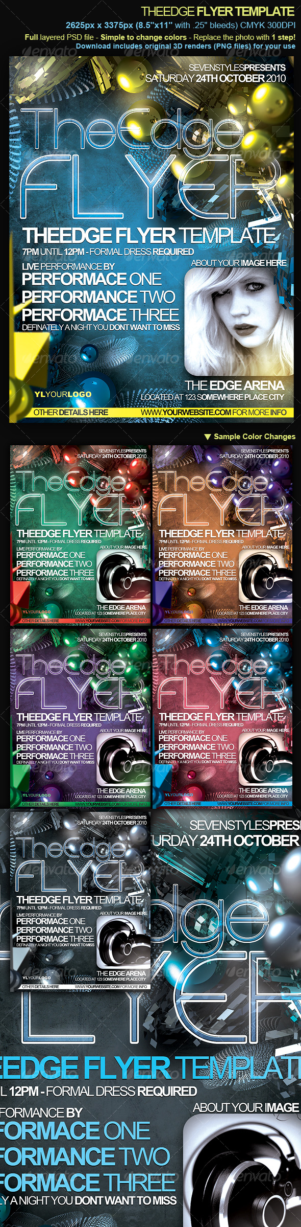 GraphicRiver TheEdge Flyer Poster Template 131233