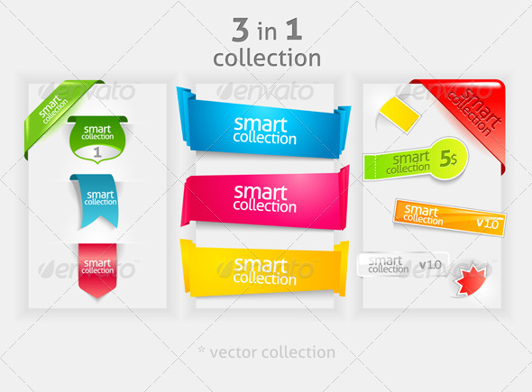 GraphicRiver Ribbon and banner collection 1050672