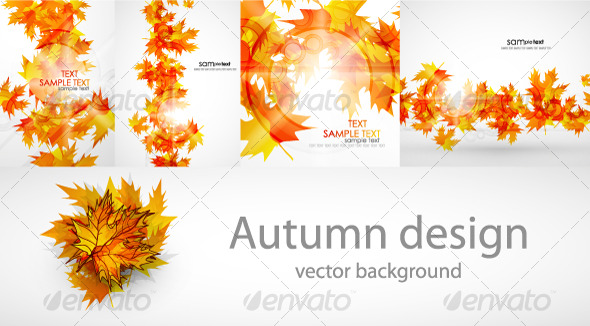 GraphicRiver Autumn background pack 131340