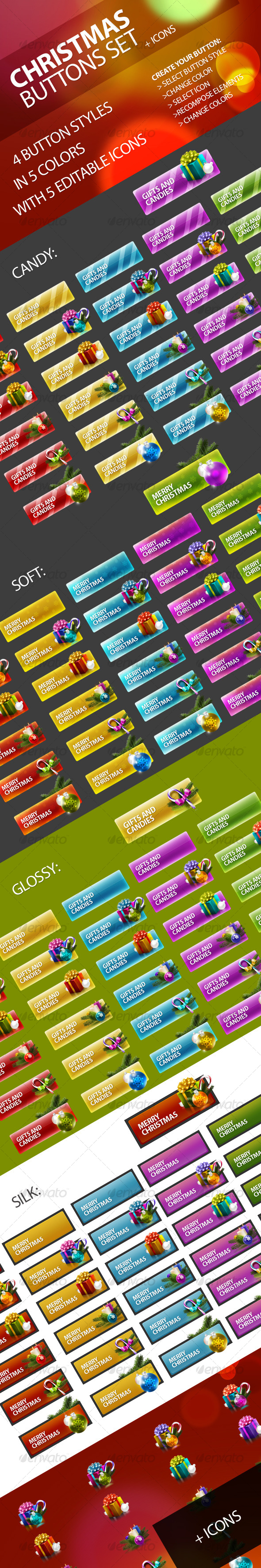 GraphicRiver Christmas Buttons Set 131397