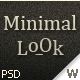 Minimal look web site - ThemeForest Item for Sale