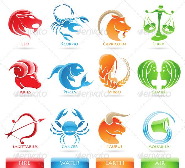 GraphicRiver Zodiac Star Signs 131544