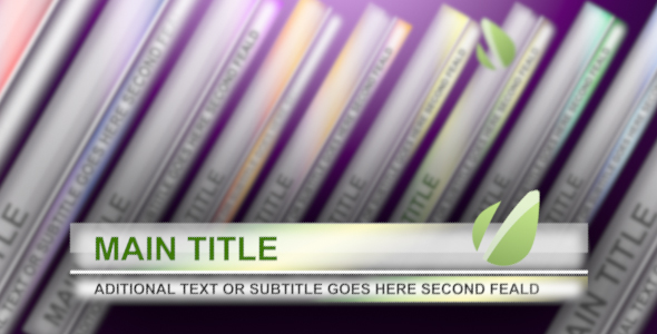 After Effects Project - VideoHive Stylish Lower Thirds 131549