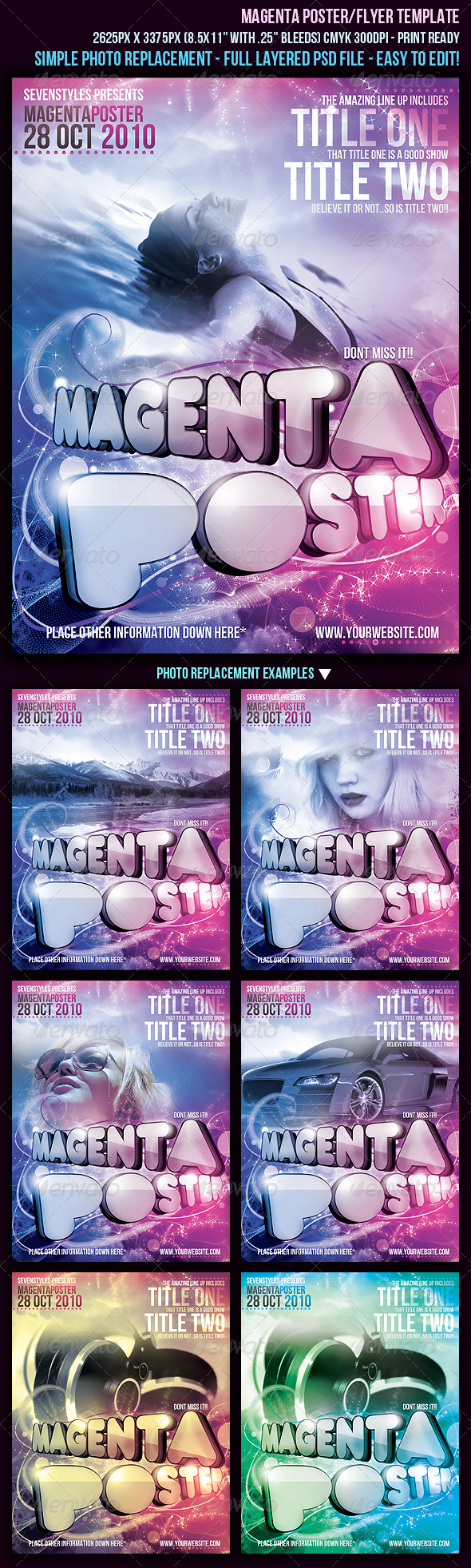 GraphicRiver Magenta Poster Flyer Template 131673