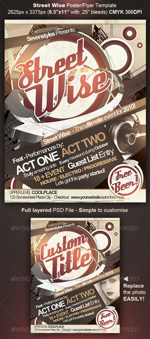 GraphicRiver Street Wise Flyer Poster Template 131891