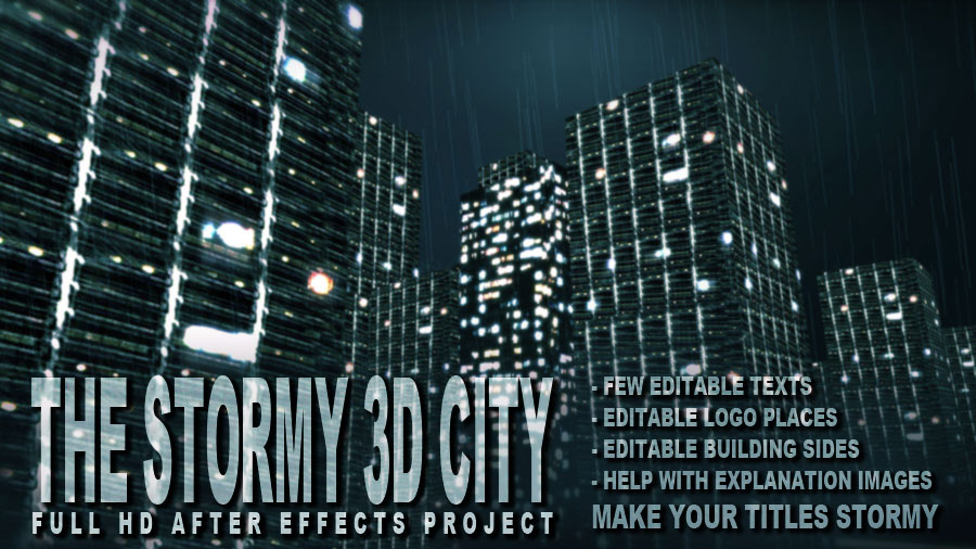 After Effects Project - VideoHive The Stormy 3D City 131906