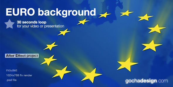 After Effects Project - VideoHive euro background loop 132036