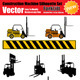 Vector Forklift Silhouette Set - GraphicRiver Item for Sale