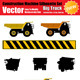 Vector Big Truck Silhouette Set - GraphicRiver Item for Sale