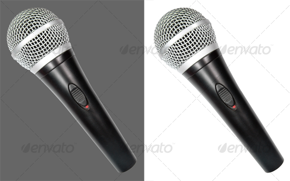 Graphic River Microphone Isolated Objects -  Technology 43784