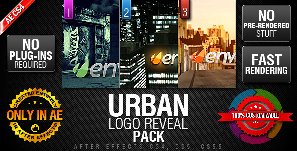 After Effects Project - VideoHive Urban Logo Reveal Pack 1032276