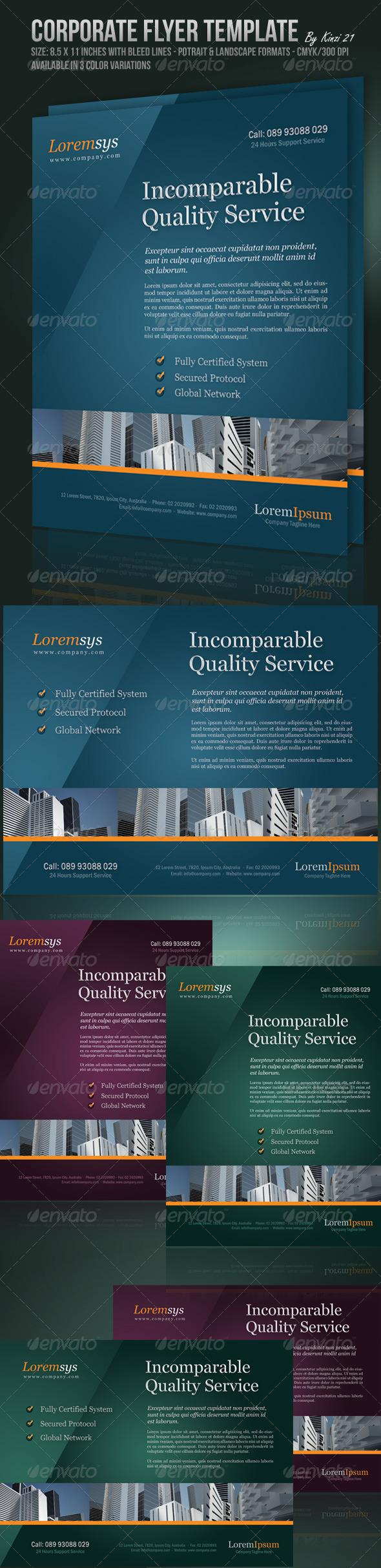 GraphicRiver Corporate Flyer Template 132496