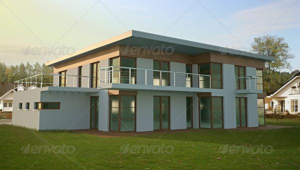 3DOcean Modern House 002 132545