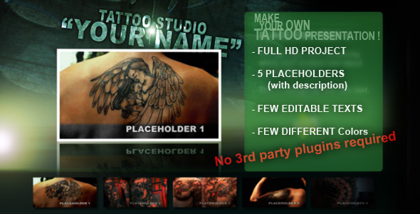 After Effects Project - VideoHive Tattoo Studio 132674