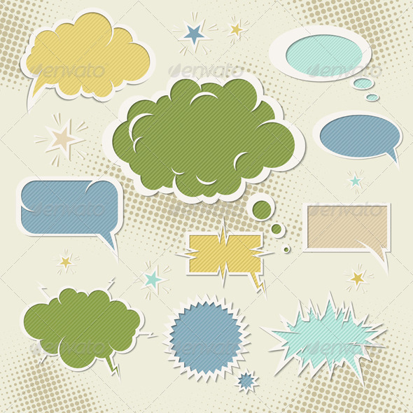 Graphic River Speech Bubbles Vectors -  Decorative  Decorative Symbols 1066148