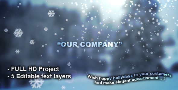 After Effects Project - VideoHive Happy Holydays.. 132717