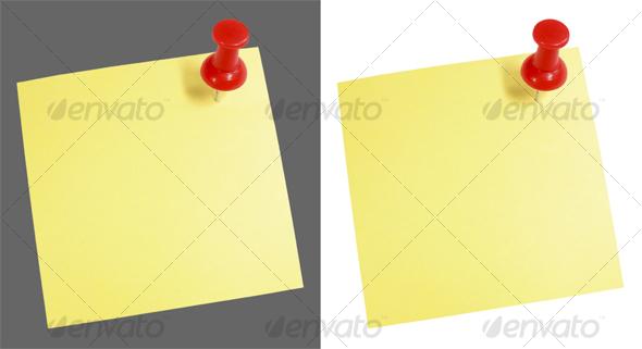 GraphicRiver Pushpin-Note 43894