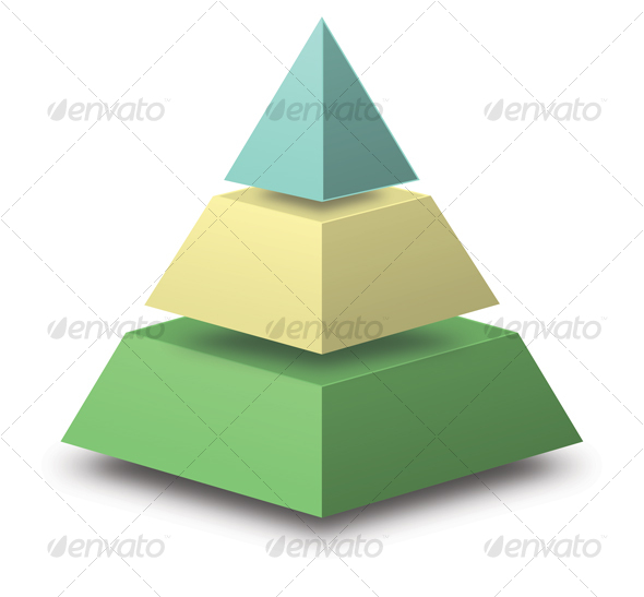 GraphicRiver 3D Pyramid with floating sections 43900