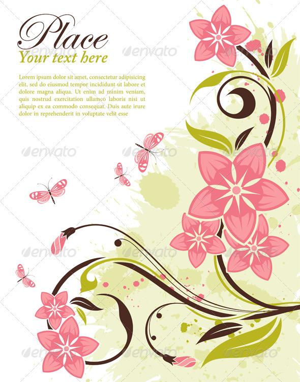 Graphic River Floral Frame Vectors -  Decorative  Borders 1068739
