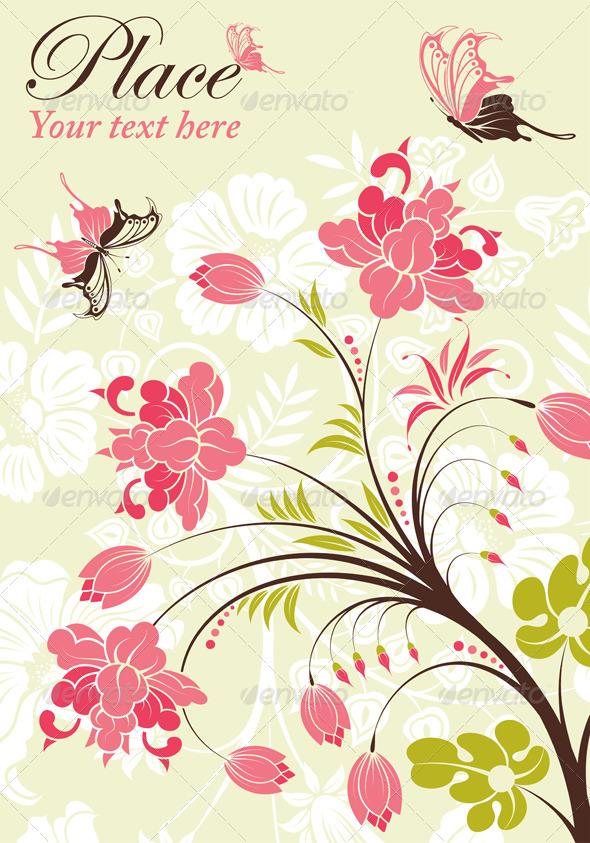Graphic River Flower Frame Vectors -  Decorative  Flourishes / Swirls 1068769