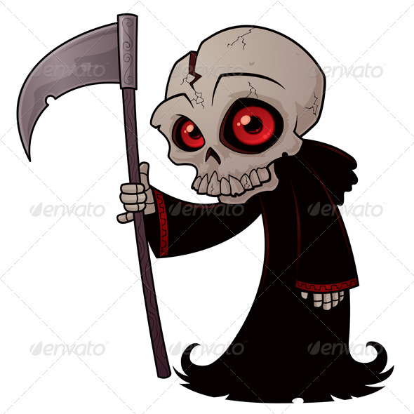 Graphic River Little Grim Reaper Vectors -  Characters  Monsters 1069266