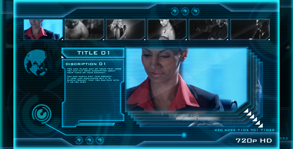 After Effects Project - VideoHive HIGH TECH OS sci-fi video display 133107