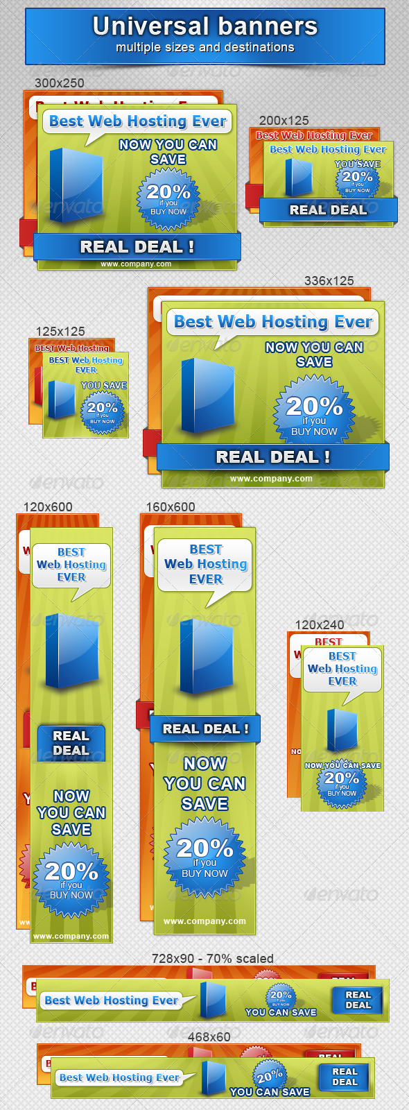 GraphicRiver Marketing Universal Banners 133458