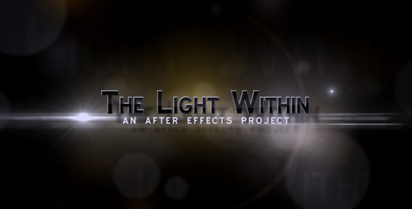After Effects Project - VideoHive The Light Within 133494