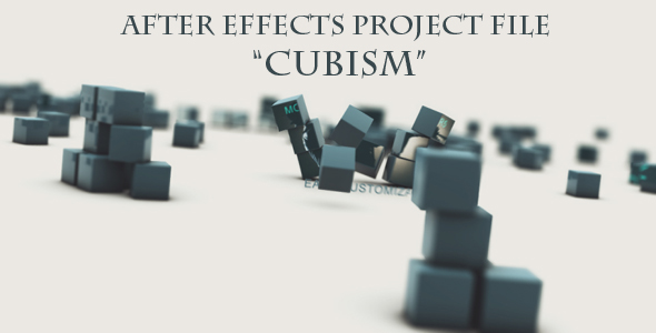 After Effects Project - VideoHive CUBISM 133515