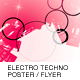 ELECTRO TECHNO POSTER/FLYER - GraphicRiver Item for Sale