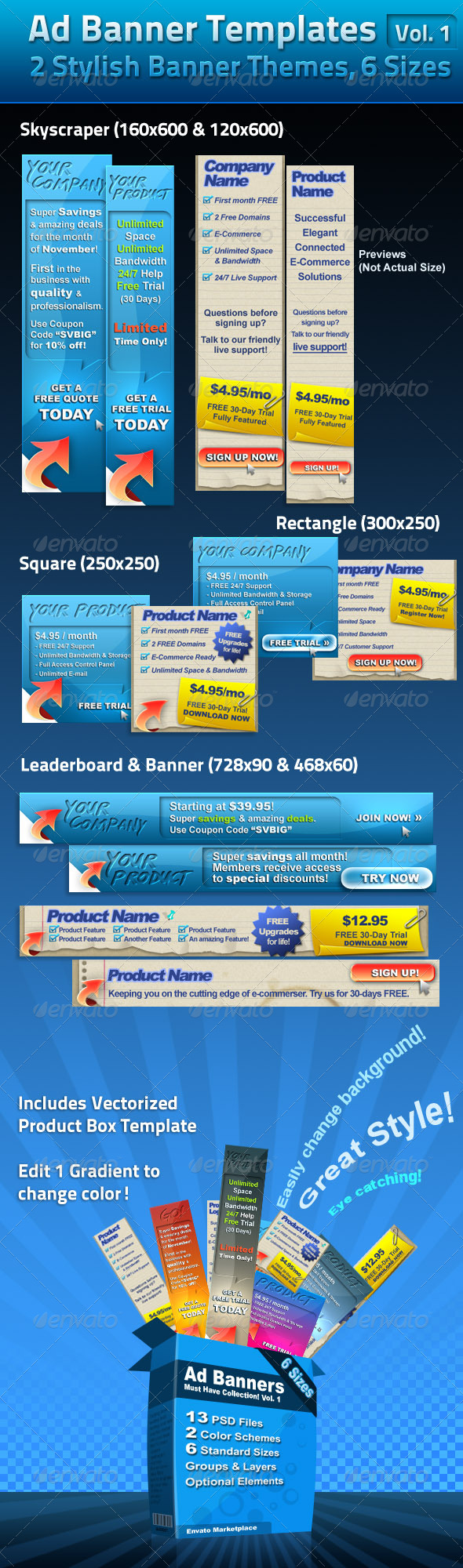 GraphicRiver Ad Banner Template Collection Vol 1 133227