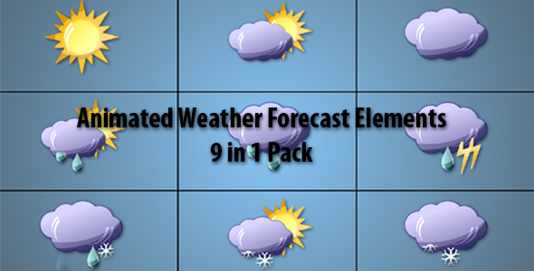 After Effects Project - VideoHive Animated Weather Forecast Elements 9 in 1 ...