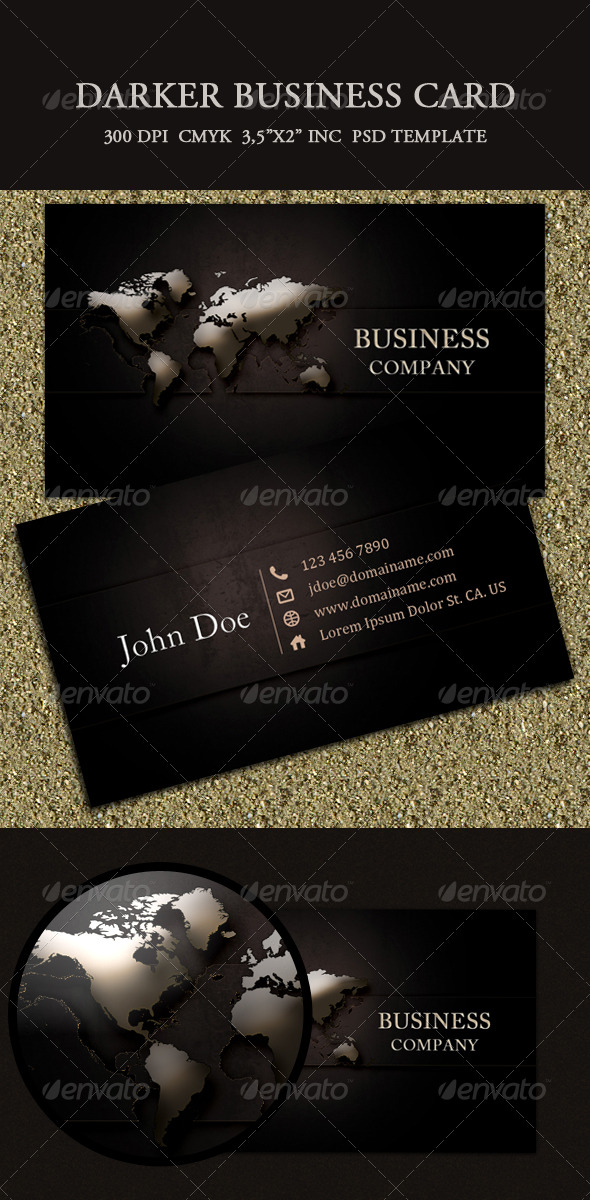 GraphicRiver Darker Business Card 134307