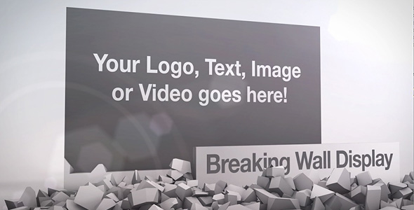 After Effects Project - VideoHive Breaking Wall Display 134360
