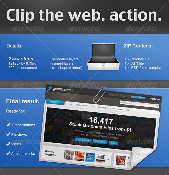 GraphicRiver Clip the web PS ACTION 133850