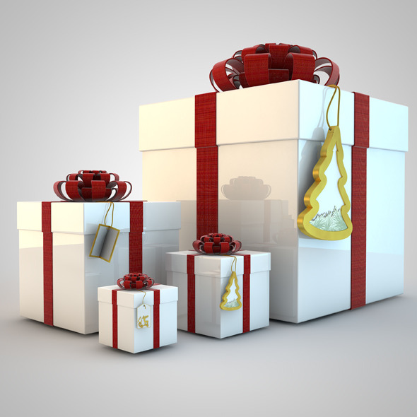 3DOcean Gift Boxes Christmas present 1082982