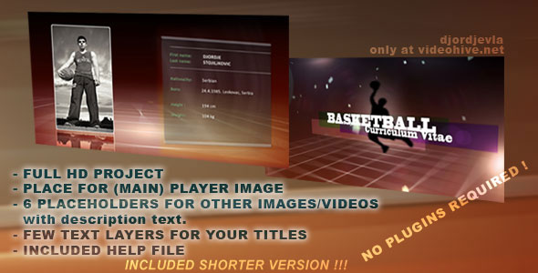 After Effects Project - VideoHive SPORT VIDEO CV 133859