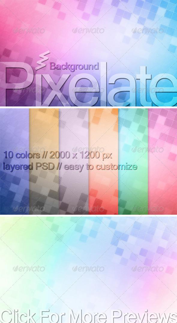 GraphicRiver Pixelate Background 534128