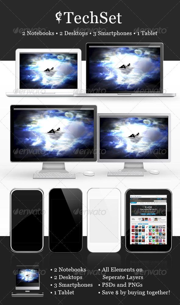 GraphicRiver Tech Set 134820
