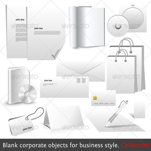 GraphicRiver Blank corporate objects for business style 134842