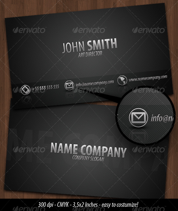 GraphicRiver Business Card Dark Metal 134939