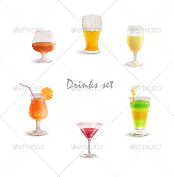 GraphicRiver Drinks Set 135535