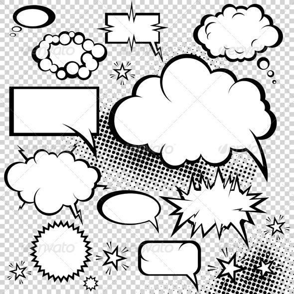 GraphicRiver Comic bubbles collection 135554
