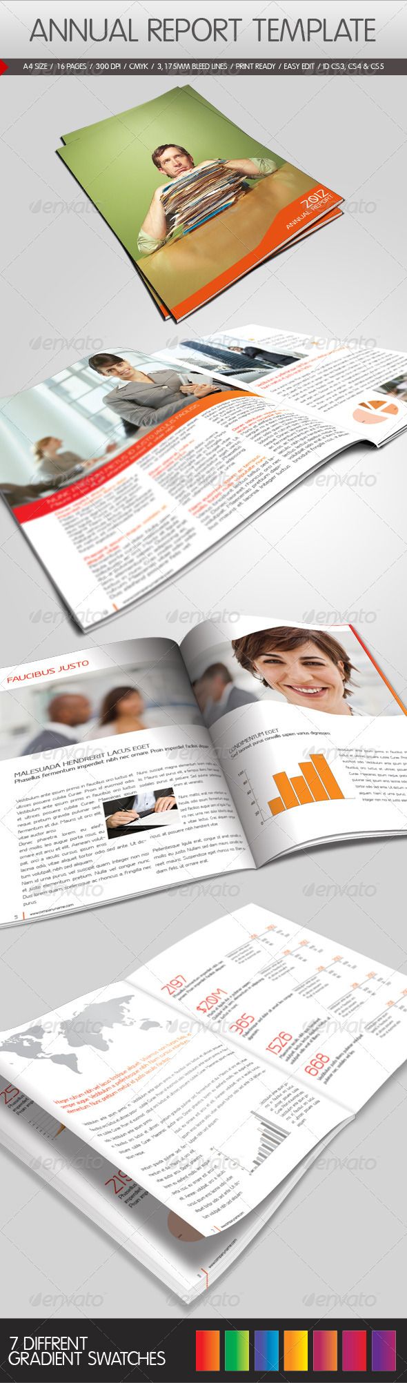 Graphic River Annual Report Template Print Templates -  Brochures  Informational 1042982