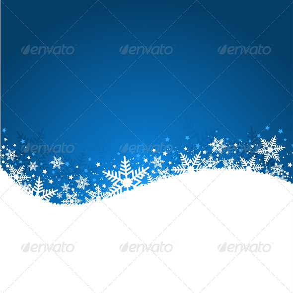 GraphicRiver Snowflake background 1097801