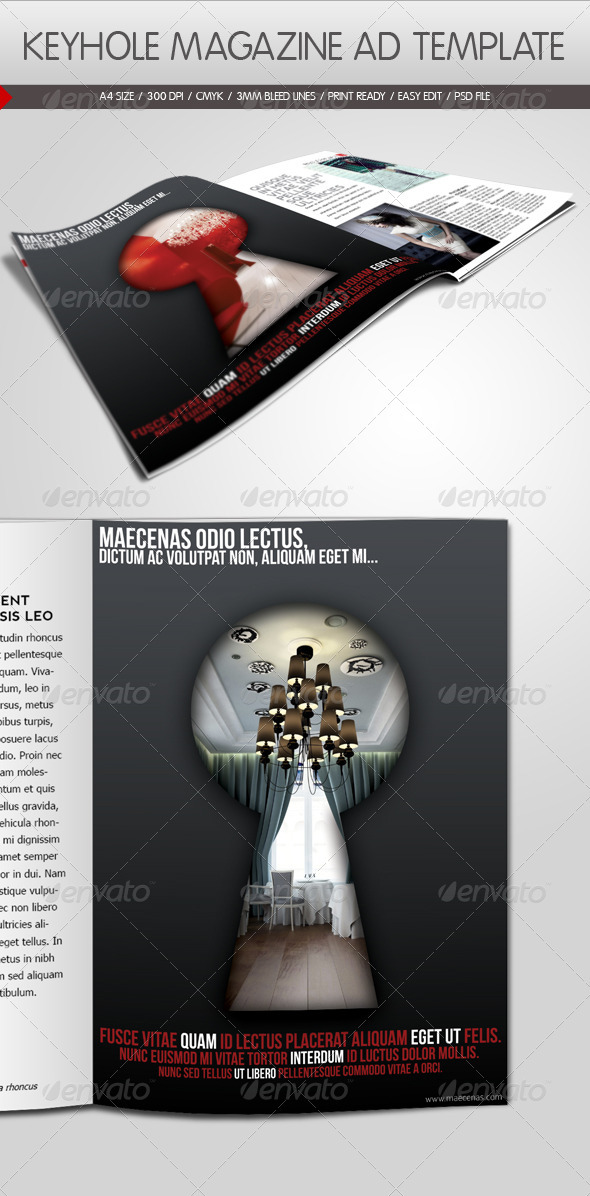 GraphicRiver Keyhole Magazine Ad Template 890425